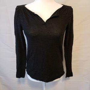Ann Taylor Loft long black sleeve blouse